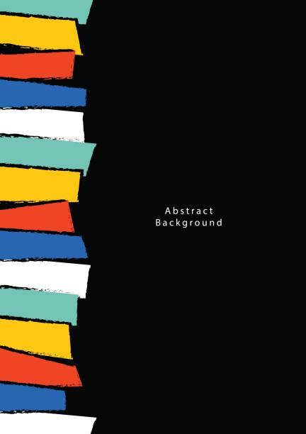 abstrakten hintergrund poster a4 illustration vektor. hintergrund-konzept. - schul hintergründe stock-grafiken, -clipart, -cartoons und -symbole