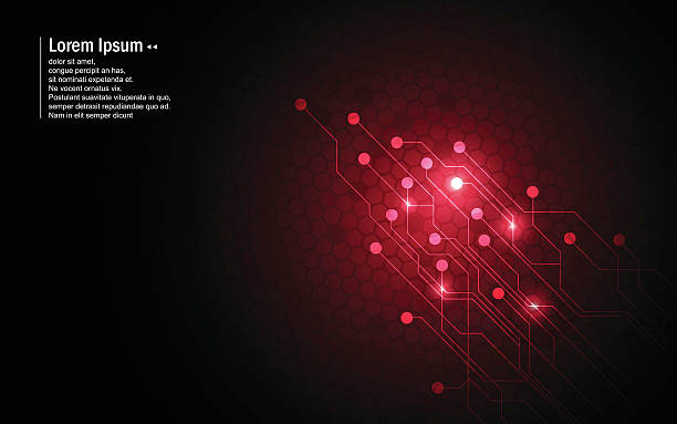 abstract background red circuit hexagon pattern design technology innovation concept – Vektorgrafik