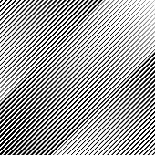Vector illustration of a Abstract Slope Diagonal Lines, Black over transparent background