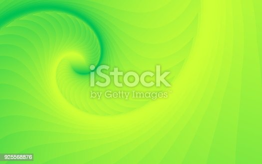 Vector Abstract Background Spiral Wave Pattern Green Yellow Color