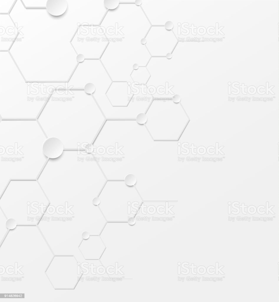 Abstract background structure DNA bio molecules on white background. vector art illustration