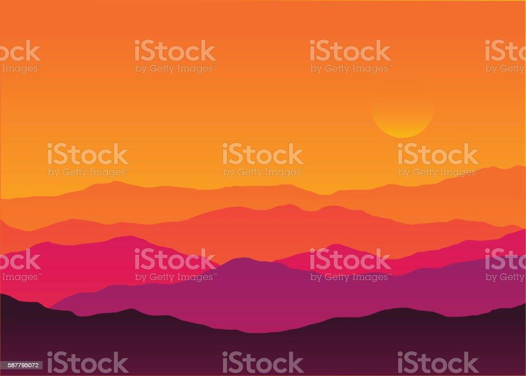 royalty free sunrise clip art vector images illustrations istock rh istockphoto com Mountain Sunrise Clip Art Colorado Mountain Clip Art