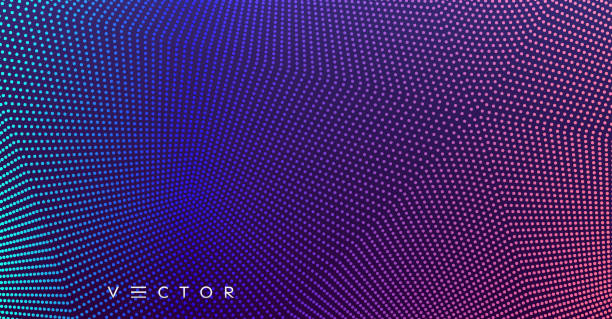Abstract background. Technology style. 3d network design with particles. Vector illustration. Cover design template. Can be used for advertising, marketing, presentation. vector art illustration