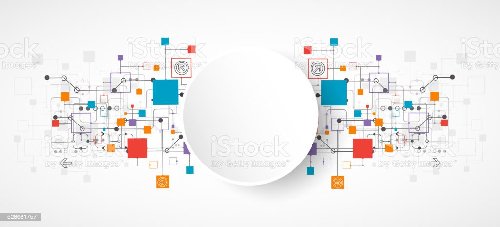 Abstract background, technology theme for your business vector art illustration