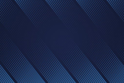 Abstract background template design. Deep blue halftone geometric gradient texture background.