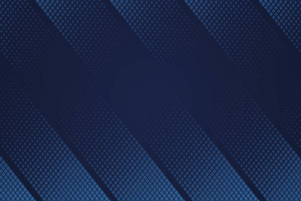 Abstract background template design. Deep blue halftone geometric gradient texture background. Abstract background template design. Deep blue halftone geometric gradient texture background. Modern colored for textile, fabric, poster, magazine, landing page. Background vector art and illustration. dark blue stock illustrations