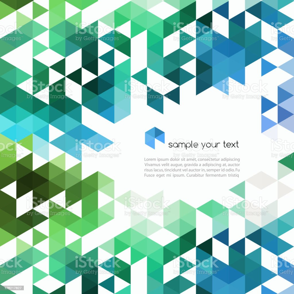 Abstract background template in blue and green royalty-free abstract background template in blue and green stock vector art & more images of abstract