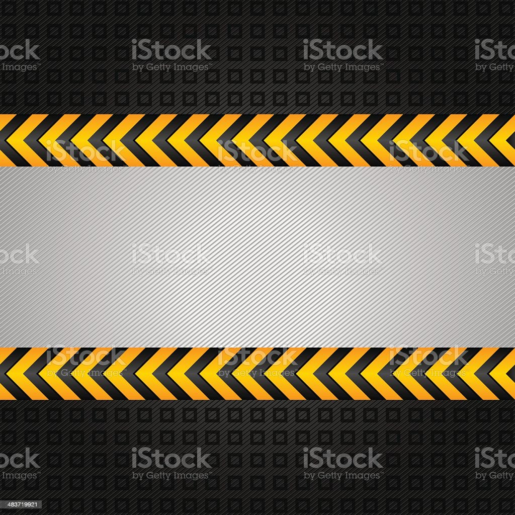 Abstract background template, under construction vector art illustration