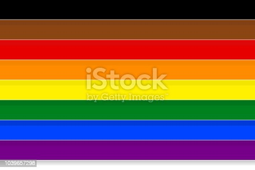 istock Abstract background texture in paper art style. Colorful rainbow stripes, the symbolic colors of LGBT or GLBT pride flag. 1039657298