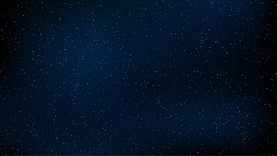 Abstract background. The beautiful starry sky is blue. The stars glow in complete darkness. A stunning galaxy. Open space. Vector illustration. EPS 10 clipart