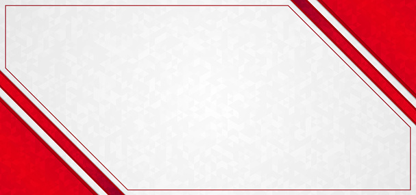 Abstract background triangle pattern red frame overlap.