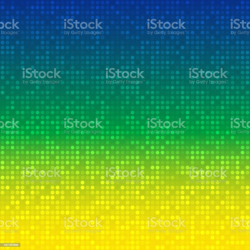 Abstract Background using Brazil flag colors vector art illustration