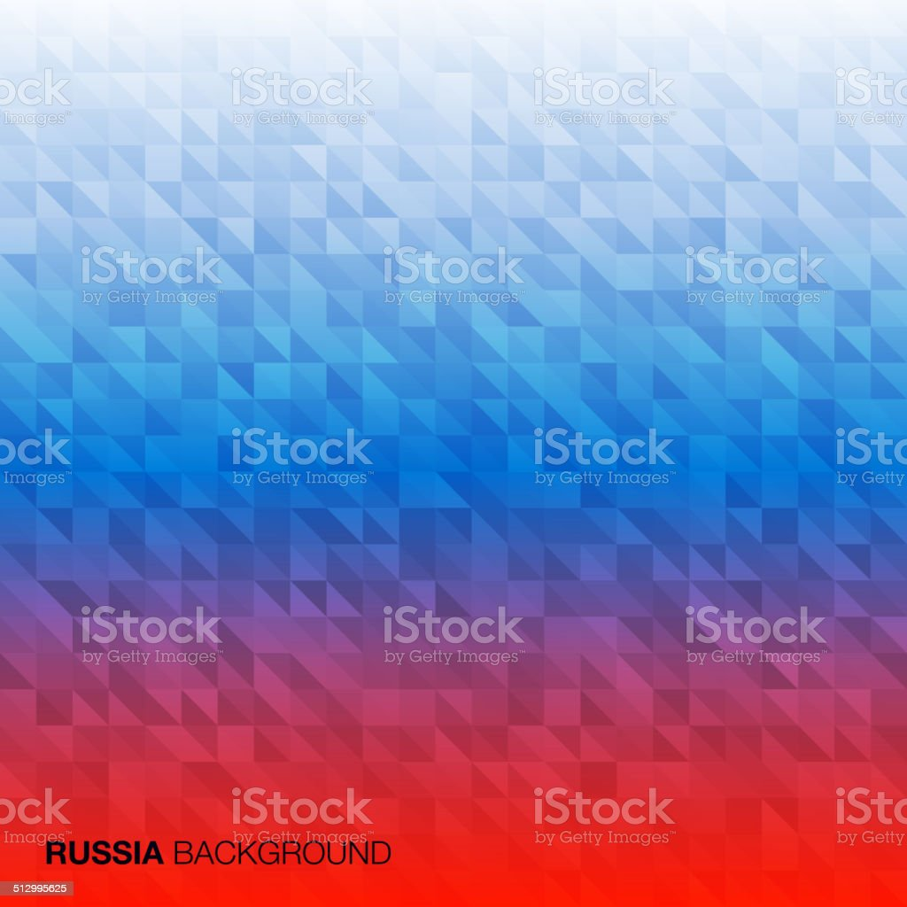Abstract Background using Russia flag colors vector art illustration