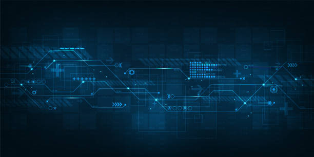 ilustrações de stock, clip art, desenhos animados e ícones de abstract background vector about complex digital work. - technology