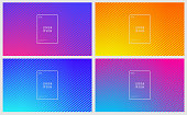 Minimal covers design. Geometric halftone gradients with a space for your text. EPS 10 vector illustration, contains transparencies. High resolution jpeg file included.