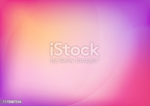 Abstract Background with Soft Curved Minimalist Shapes
