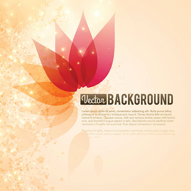 Abstract Background Abstract background with space for text. EPS 10 file. Transparency used on highlight elements. flower head stock illustrations