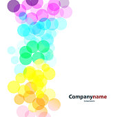 Abstract Colorful Bubbly Background Design Illustration in Editable Vector Format