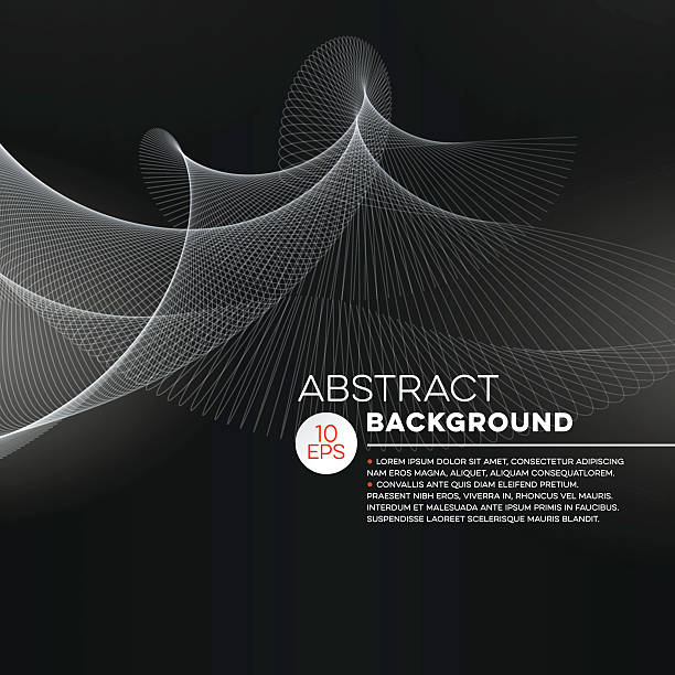 Abstract Background Modern abstract background with oscillating lines. Black and white image. File is layered and global colors used. sine wave stock illustrations