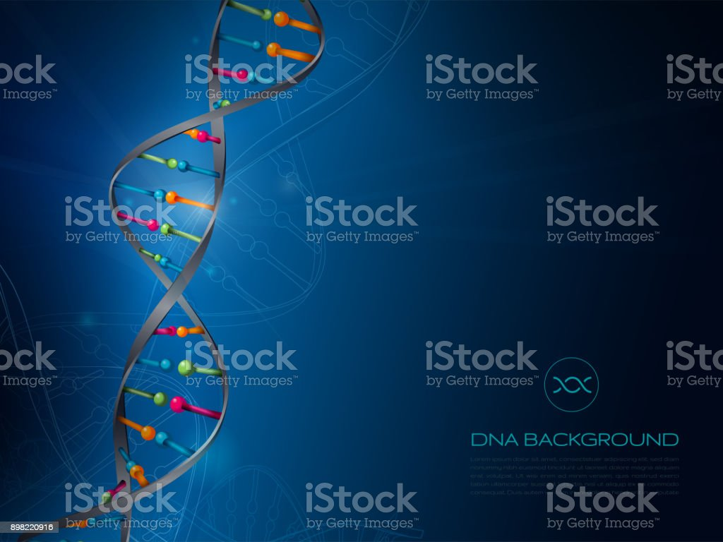 DNA Abstract Background vector art illustration