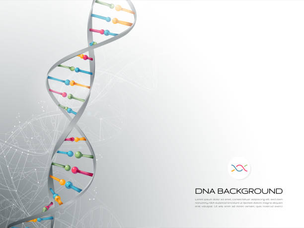 DNA Abstract Background Layered illustration of DNA. Global colors used. genetic research stock illustrations