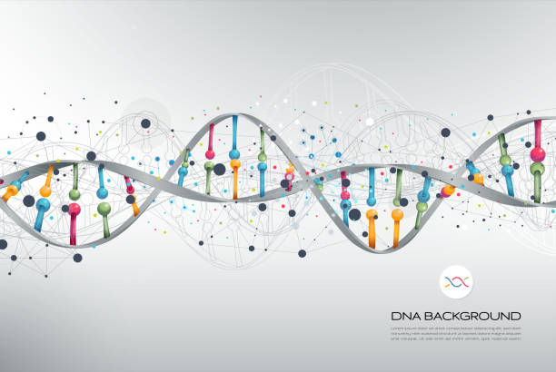 dna abstract background - bio tech stock illustrations, clip art, cartoons, & icons