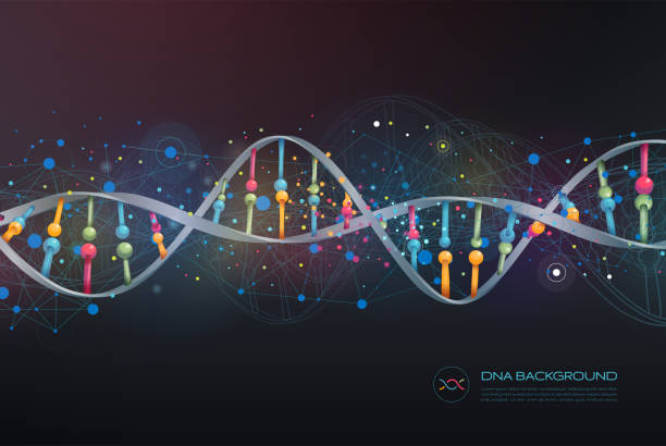 DNA Abstract Background Layered illustration of DNA. Global colors used. dna test stock illustrations