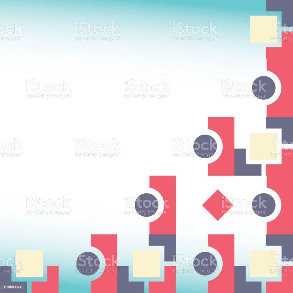 Abstract Illustration Vectorielle Fond De Carte Postale Ou Modele Visite