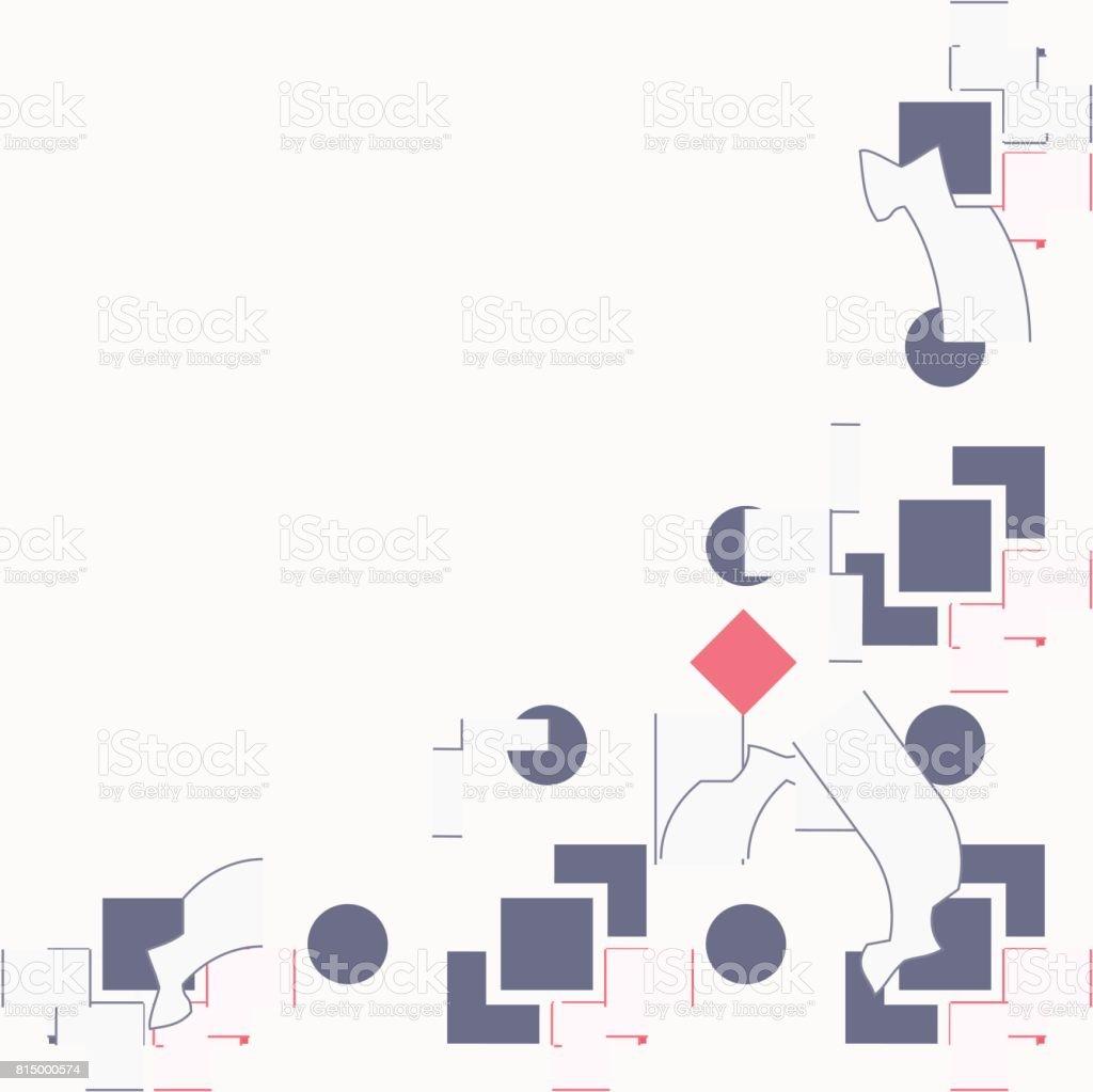 Abstract Illustration Vectorielle Fond Du Modle De Carte Postale Ou Visite