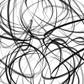 Abstract background. Vector illustration with black and gray dynamic lines on white