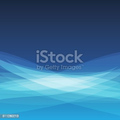 Blue Modern Wavy Abstract Background Design - Illustration in Editable Vector Format