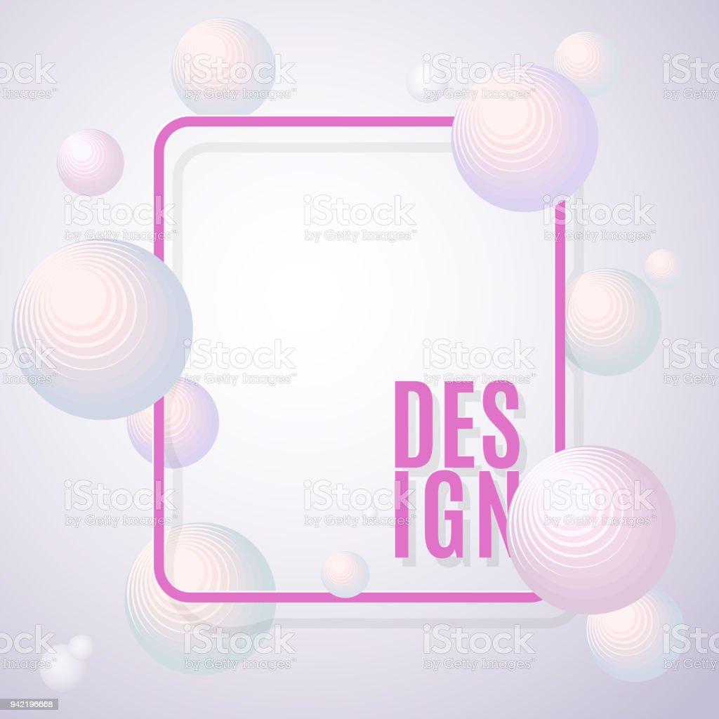 Antecedentes Esferas De Luz Volumétrica Con Un Marco Y Texto Diseño ...