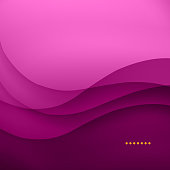 Abstract background wave with shades of pink and orange dots
