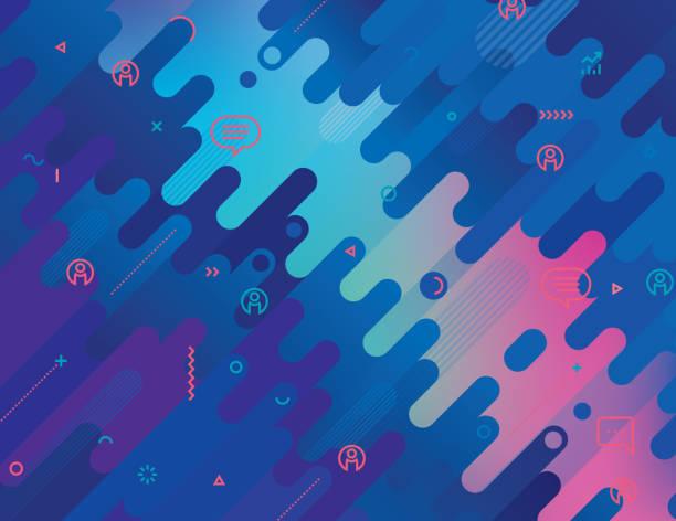 Abstraktes Hintergrundwebinar – Vektorgrafik