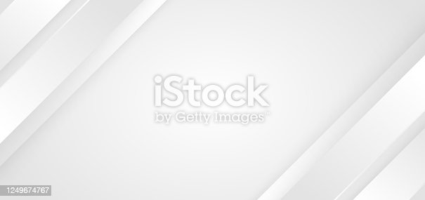 istock Abstract background white and gray diagonal stripes lines. 3D cover of business presentation banner web 1249674767
