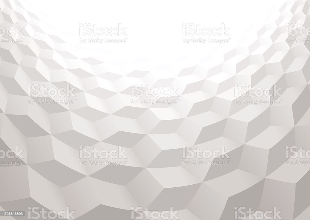Abstract background with 3d cubes vector art illustration