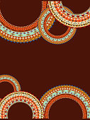 Abstract background with a circular geometric pattern