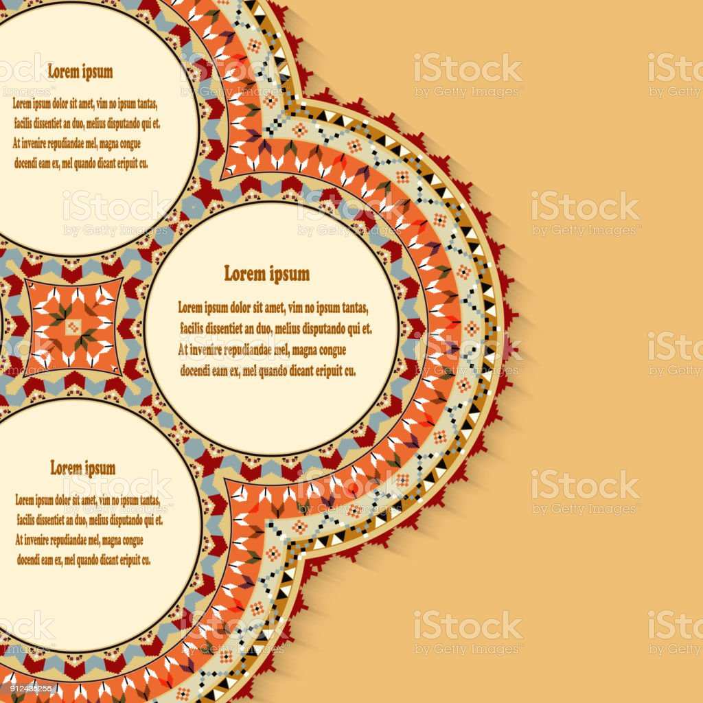 Abstract background with a design element in the Mexican style. Vector illustration vector art illustration
