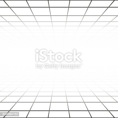 Abstract background with a perspective grid stock vector for Grid room