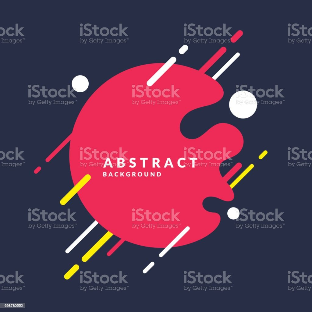 Abstract background with a splash, lines and round in a flat minimalist style. Bright vector illustration vector art illustration