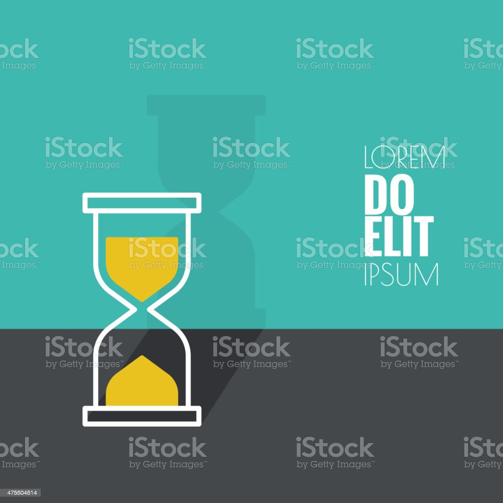 Abstract background with an hourglass vector art illustration