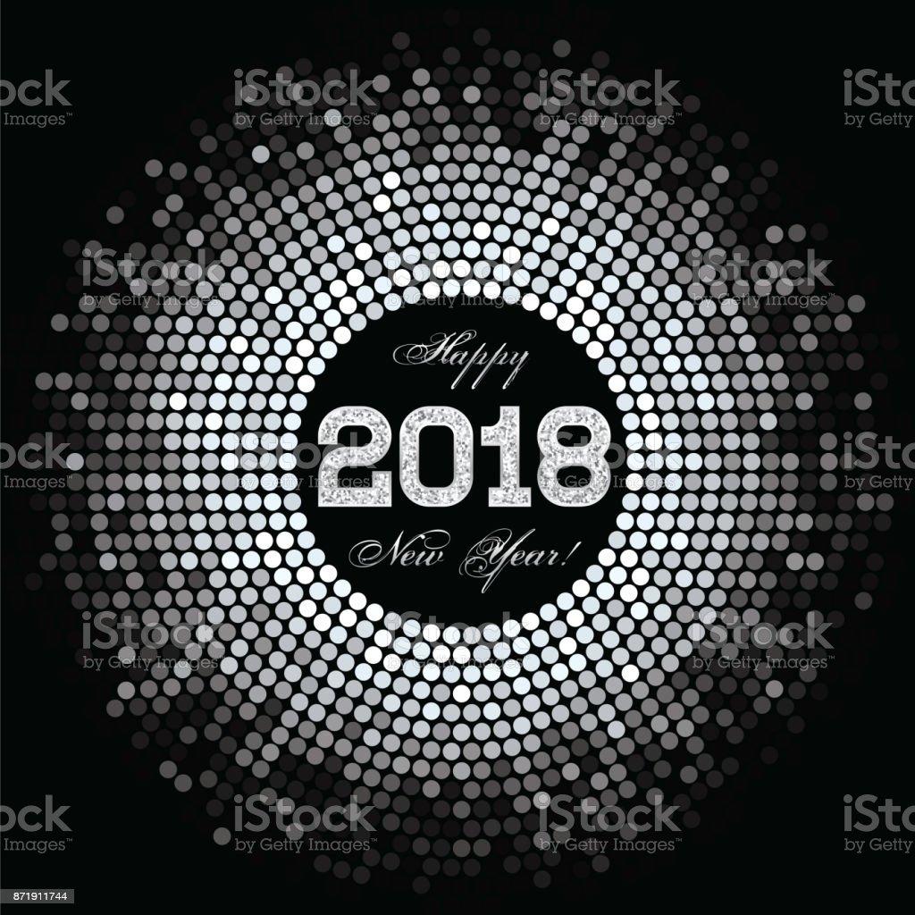 Zusammenfassung Hintergrund Mit Einer Inschrift Und Herzlichen Glückwunsch Zum Neuen Jahr 2018 Stock Vektor Art Und Mehr Bilder Von 2018