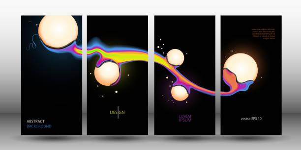 抽象的背景與球。套蓋。海報。向量 EPS 10向量藝術插圖