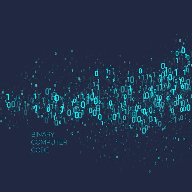 ilustrações, clipart, desenhos animados e ícones de abstrato com código binário. análise e transferência de dados - code