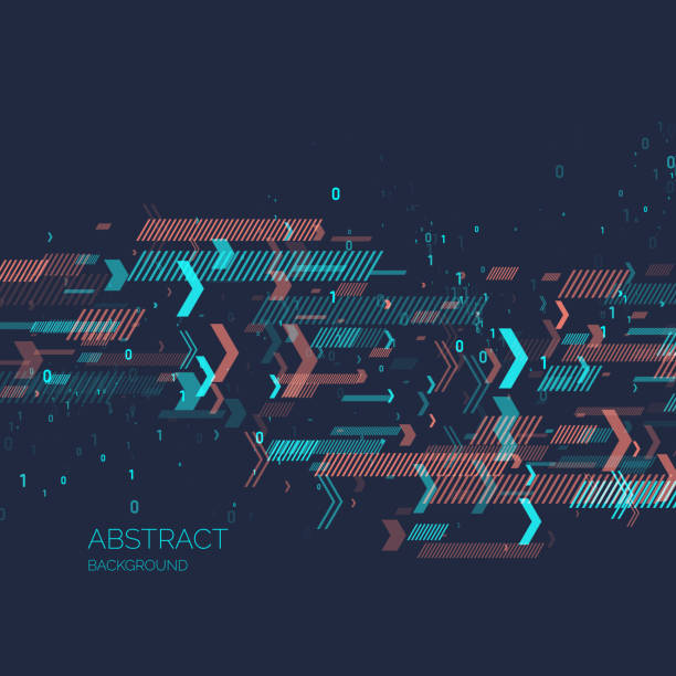 abstract background with binary code. analysis and data transfer - motion stock illustrations