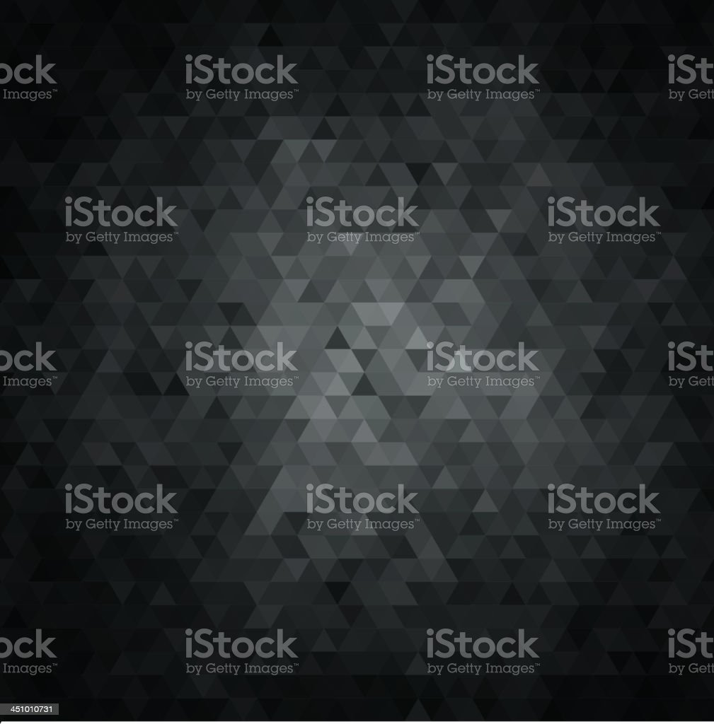 Abstract background with black and gray crystals vector art illustration