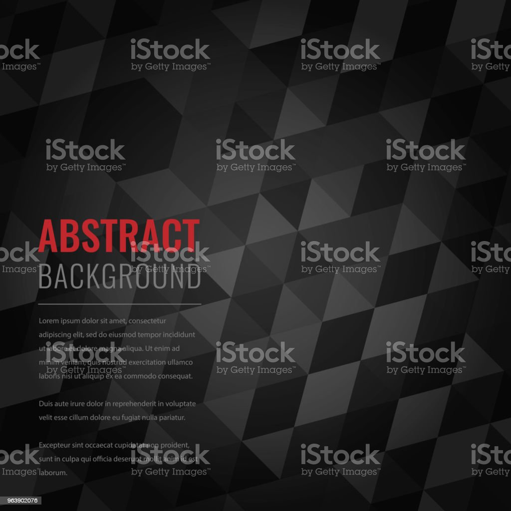 Abstract background with black squares. Business design template. Vector - Royalty-free Abstract stock vector