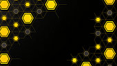 istock abstract background with black & yellow  hexagon 1188216486