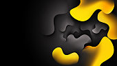 abstract background with black & yellow