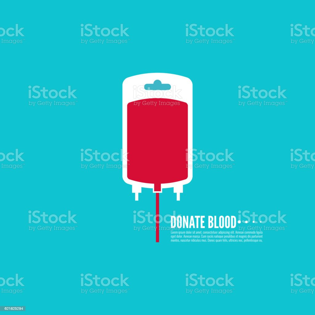 Abstract background with blood bag. vector art illustration